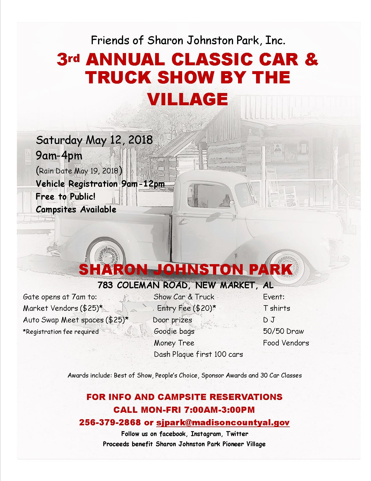 2018 Classic Car and Truck Show by the Village | Madison County, AL