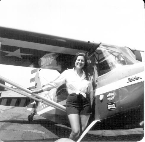 sharon johnston with plane
