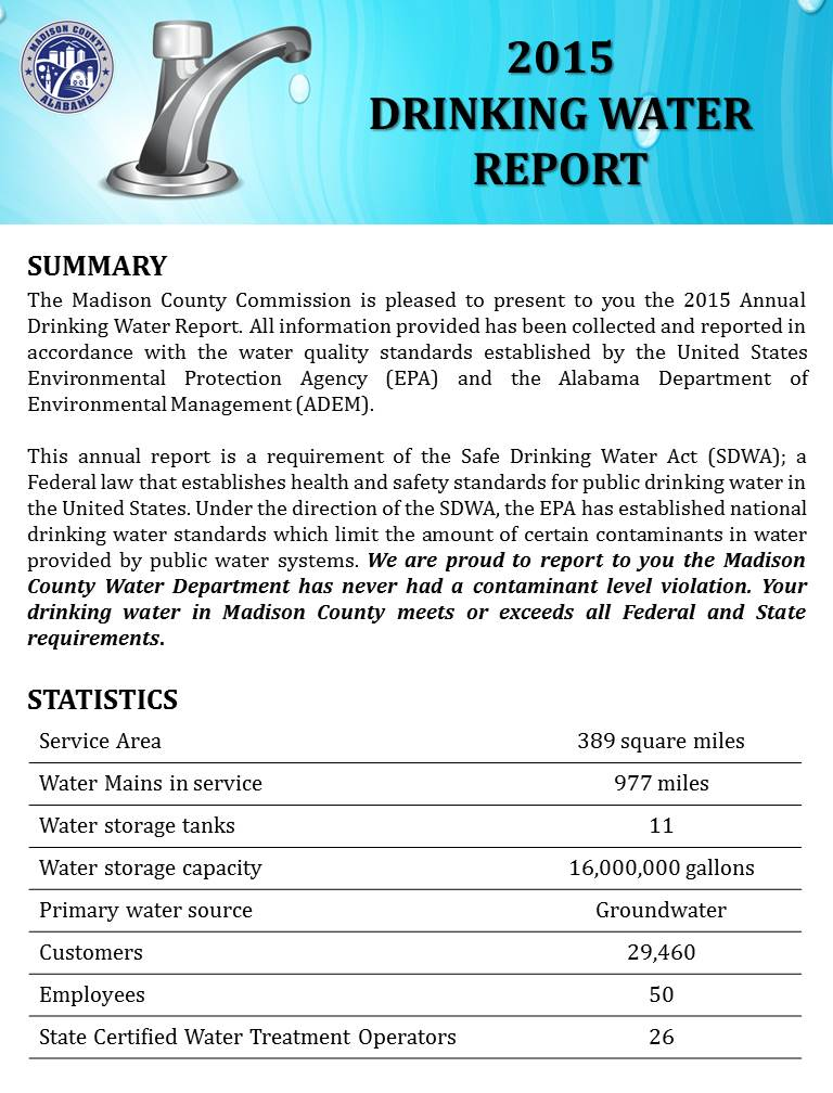 Drinking Water Report 2015