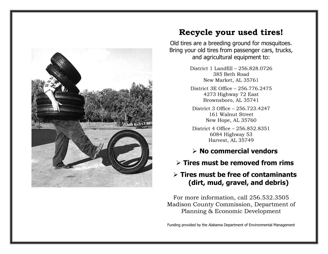 Tire Recycling Madison County Al